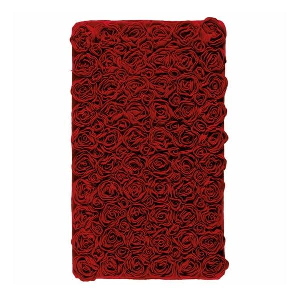 Červená kúpeľňová predložka  Rose, 60x100cm