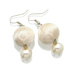4935708b1 Biele perlové náušnice zo zinku a striebra Ottaviani Coco