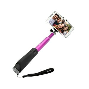 Ružová teleskopická selfie tyč FIXED v luxusnom hliníkovom prevedení