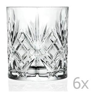 Sada 6 pohárov RCR Cristalleria Italiana Bianca