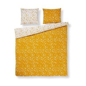 Žlté bavlnené obliečky na dvojposteľ Ekkelboom Florieke, 240×200 cm