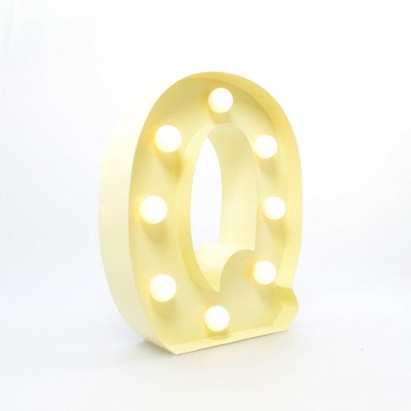 Dekoratívne svetlo Carnival Q, vanilkové