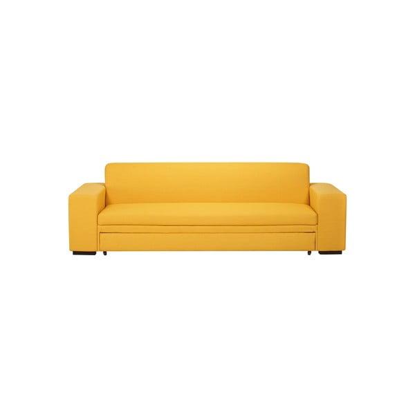 Rozkladacia pohovka A-Maze 245 cm, žltá