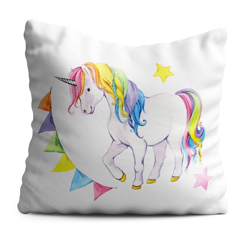 Detský vankúš OYO Kids Colorful Unicorn, 40 x 40 cm