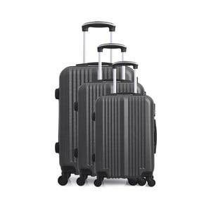Sada 3 tmavosivých cestovných kufrov na kolieskach Hero San Diego