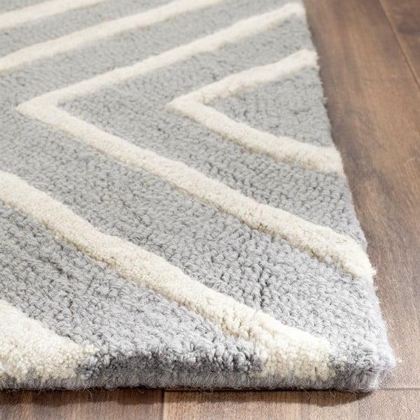 sivý vlnený koberec Safavieh Prita, 152 x 243 cm