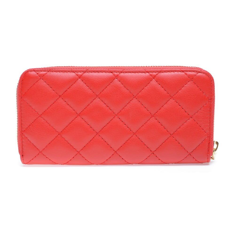 Červená kožená peňaženka Roberta M Adelina