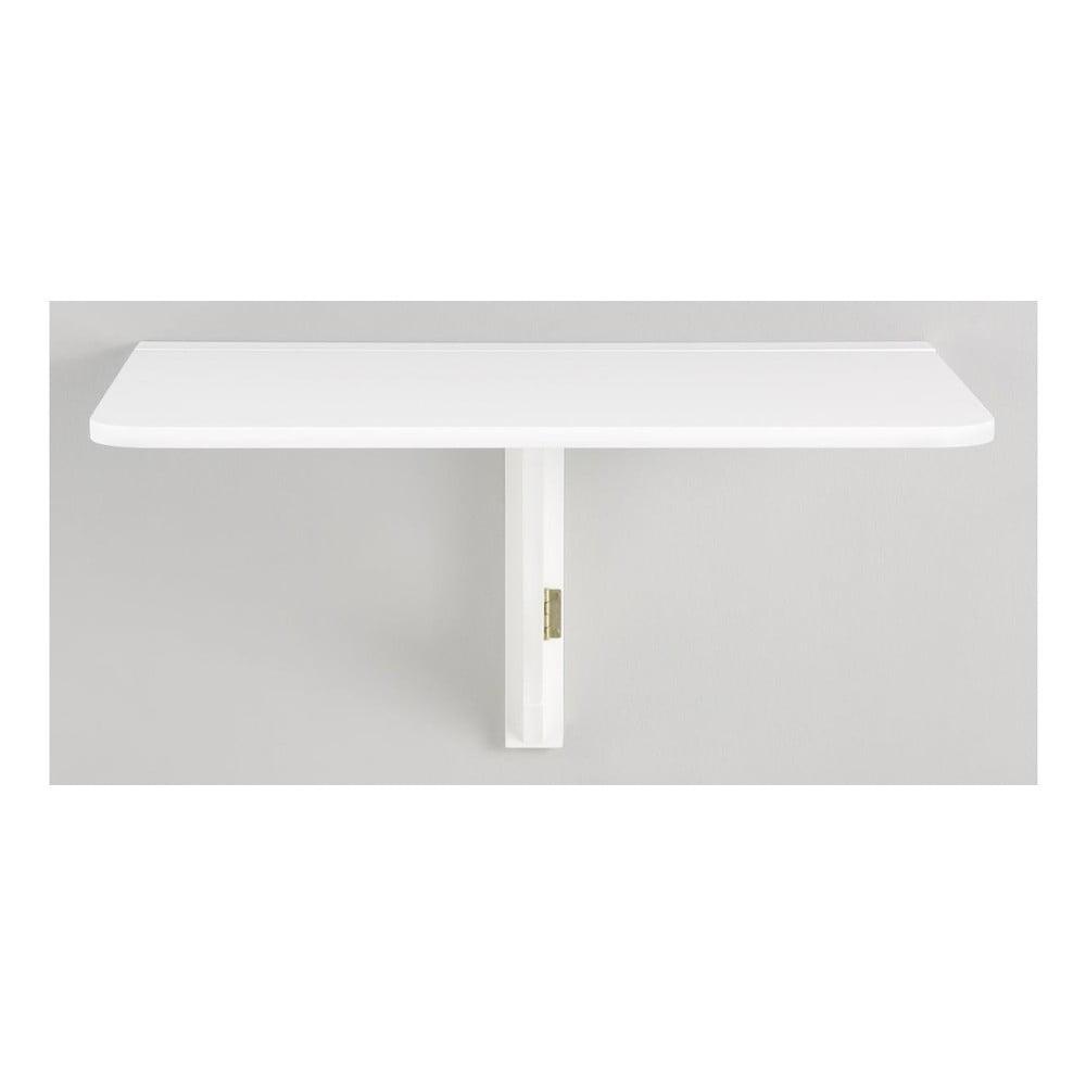 Biely skladací stôl na stenu Støraa Trento, 41 × 80 cm