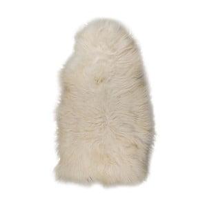 Biela XXXL ovčia kožušina s drsným vlasom, 130 x 70 cm
