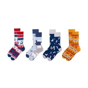 Sada 4 párov ponožiek v darčekovom balení Many Mornings Buddies, veľ. 43–46