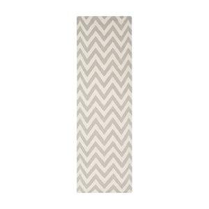 Vlnený koberec Nellaj 76x243 cm, sivý