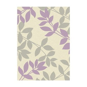 Koberec Asiatic Carpets Focus Mauve Leaves, 80x150 cm
