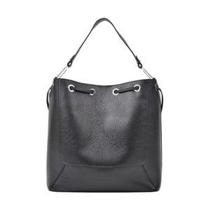 Čierna kožená kabelka Renata Corsi Havna