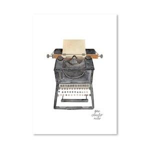 Autorský plagát Typewriter, 30x42 m