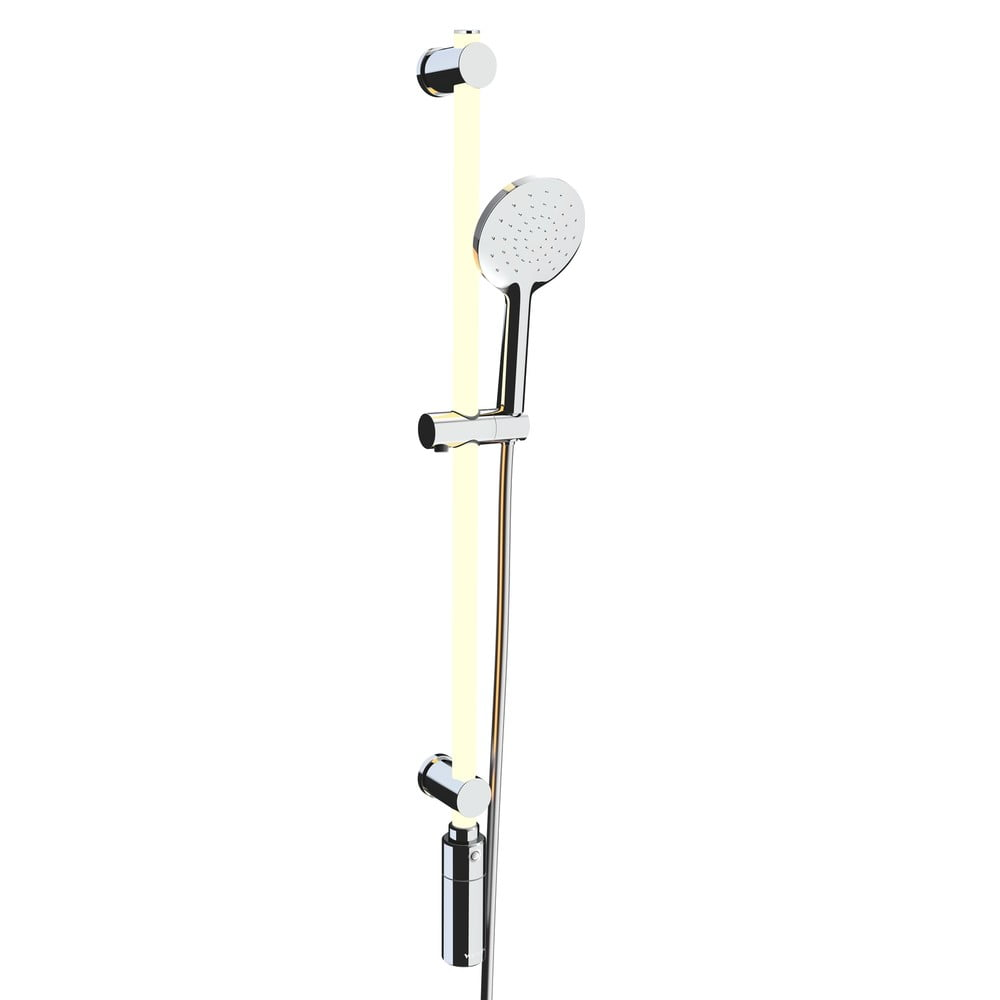 Svetelný LED panel do sprchy so sprchovou hlavicou Wenko RGB, dĺžka 95 cm