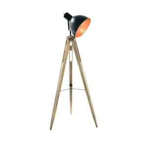 Stojacia lampa s drevenou konštrukciou InArt