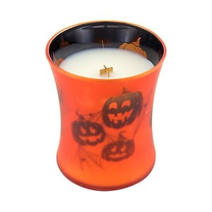 Sviečka s vôňou tekvice a hrejivého korenia Woodwick Picture Maslová tekvica, doba horenia 60 hodín