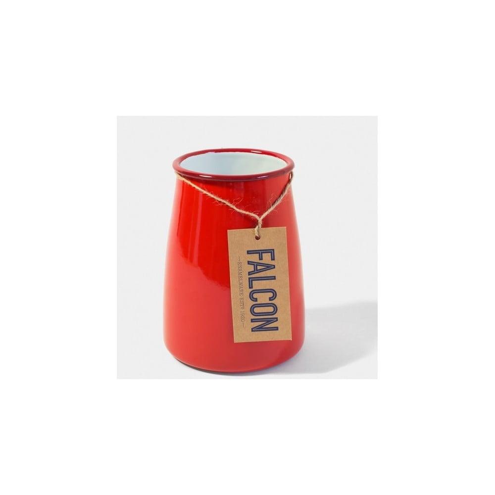 Červená smaltovaná nádoba na kuchynské nástroje Falcon Enamelware