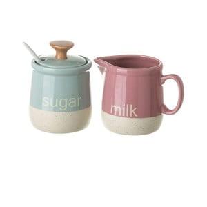 Farebná cukornička a džbánik na mlieko Unimasa
