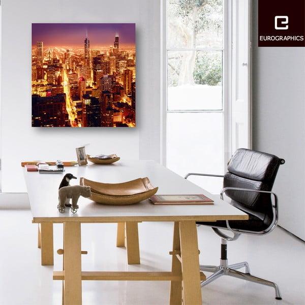 Sklenený obraz High Above Chicago, 80x80 cm