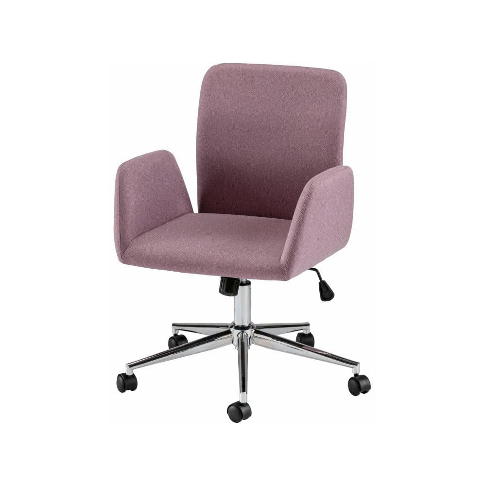 Ružová kancelárska stolička na kolieskach s opierkami Støraa Bendy