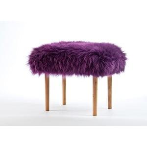 Stolička z ovčej kože Carys Aubergine