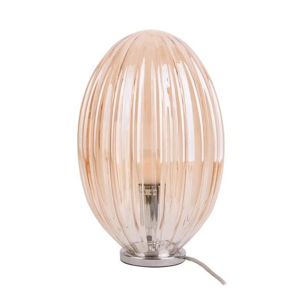 Hnedá stolová lampa Leitmotiv Smart, výška 31 cm