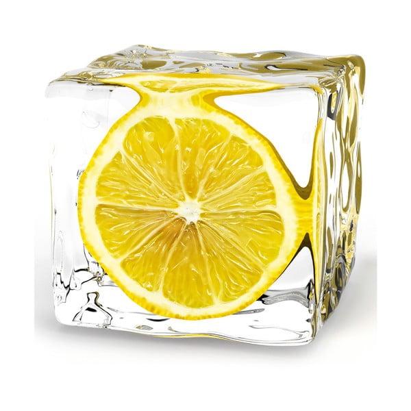 Sklenený obraz Iced Lemon, 20x20 cm