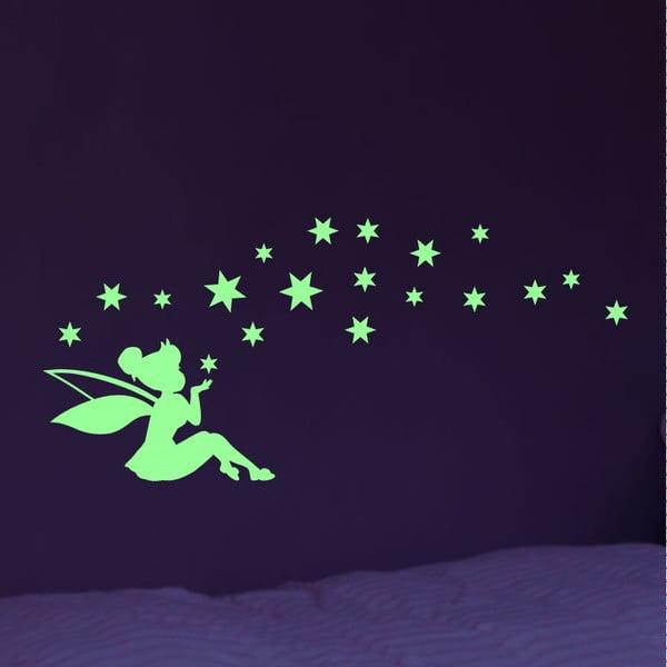 Sada svietiacich samolepiek Ambiance Fairy And The Stars