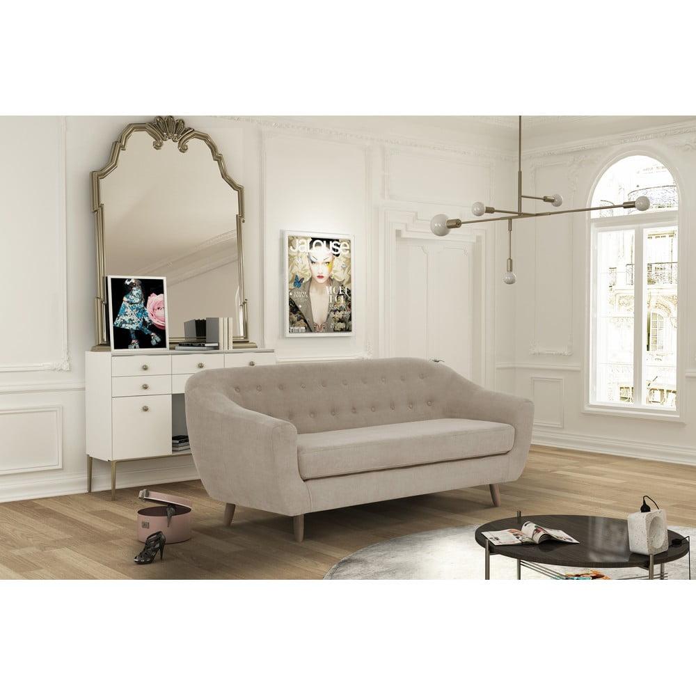 sivohned trojmiestna pohovka jalouse maison vicky bonami. Black Bedroom Furniture Sets. Home Design Ideas