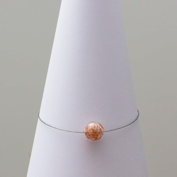 Sklenený náhrdelník ko-ra-le Wired, medený