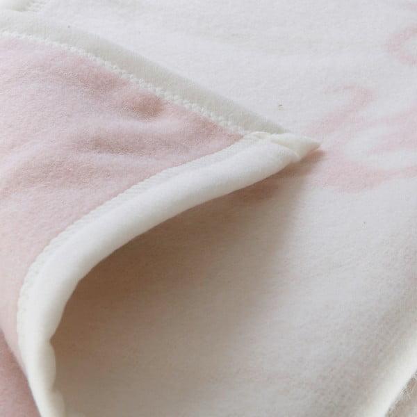 Vlnená prikrývka Agata 210x260 cm, ružová