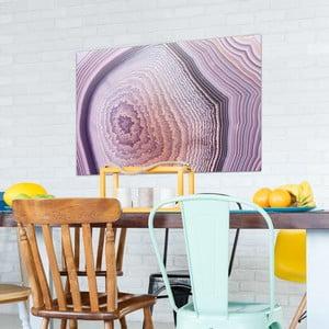 Sklenený obraz OrangeWallz Gemstone Purple, 76 x 114 cm