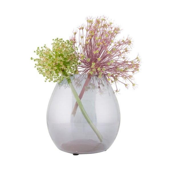 Svetlosivá sklenená váza BePureHome Simple, Ø20cm