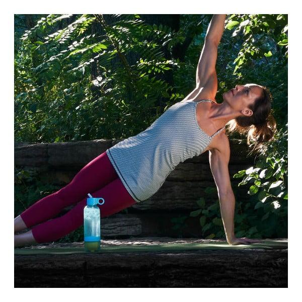 Športová fľaša na vodu s citrónom Citrus Zinger Sport Blue