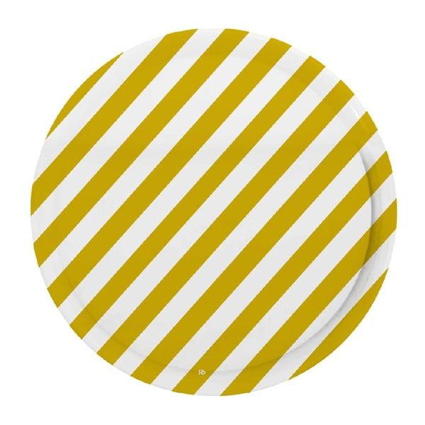 Podnos Stripes Mustard