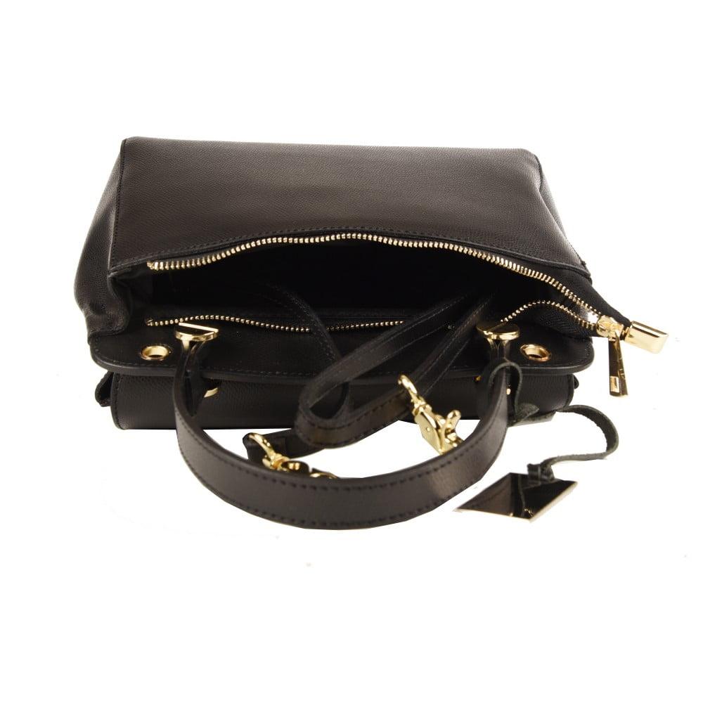 Čierna kožená kabelka Matilde Costa New York ... 6e6dcb725fa