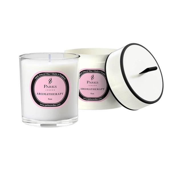 Sviečka s vôňou ruže Parks Candles London Aromatherapy, 45hodín horenia