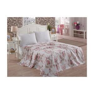 Ľahký prikrývka cez posteľ Rosen Brown, 200x230cm