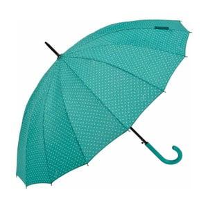 Zelený tyčový dáždnik Ambiance Triangles, ⌀ 122 cm