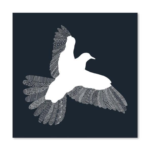 Plagát Bird Blue od Florenta Bodart, 30x30 cm