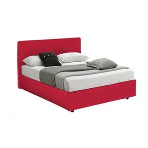 Červená jednolôžková posteľ s úložným priestorom 13Casa Ninfea, 120 x 190 cm