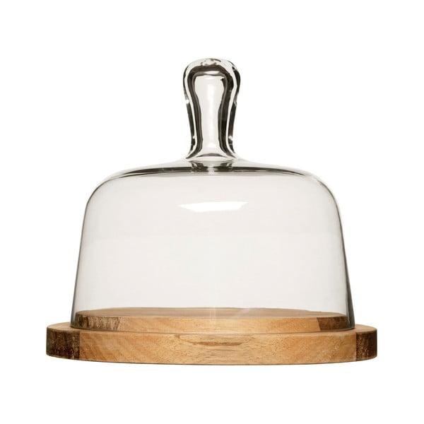 Doska na syr so skleneným poklopom Oval Sagaform