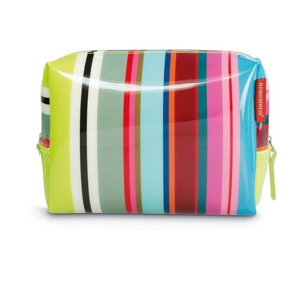 Kozmetická taška Remember Colour Stripes, veľká