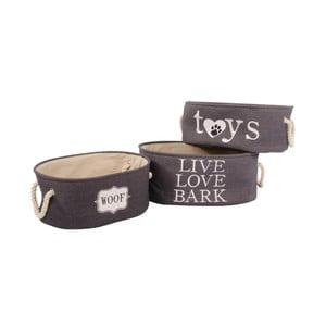Sada 3 košíkov Live Love Bark
