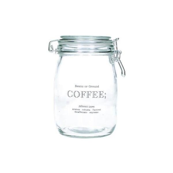 Sklenená dóza na kávu Coffee