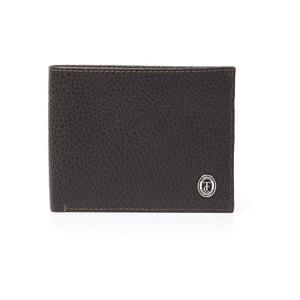 Hnedá pánska kožená peňaženka Trussardi Royal, 12,5 × 9,5 cm