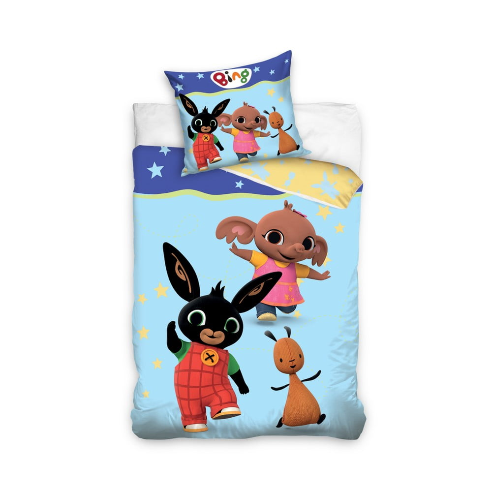 Detské bavlnené obliečky na jednolôžko CARBOTEX Zajačik Bing I, 160 × 200 cm