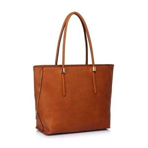 Horčicovohnedá kabelka L & S Bags kanola
