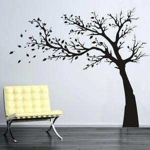 Samolepka na stenu Strom s lístkami, ľavá strana